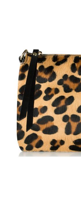 Pure White Palau Cross Body Bag Leopard