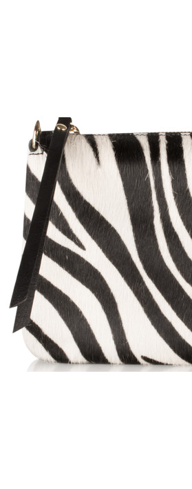 Pure White Palau Cross Body Bag Zebra