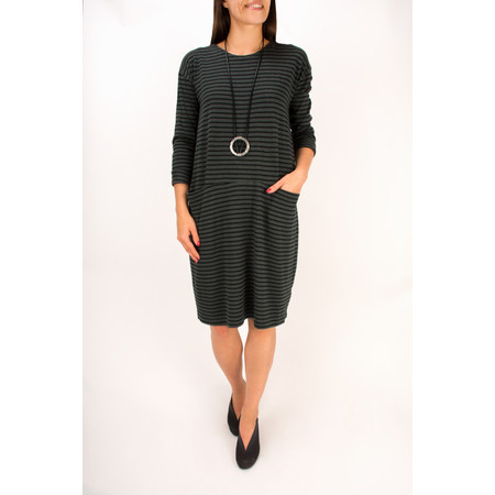 Two Danes Helka Striped Dress - Grey