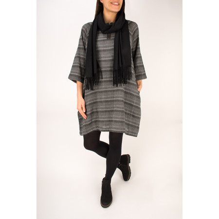 Two Danes Checked Gina Tunic Dress - Grey