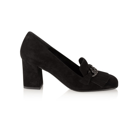 Tamaris  Zalina Block Heel Loafer - Black