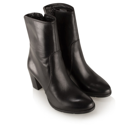 Tamaris  Leather Ankle Boot  - Black