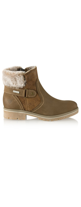 Tamaris  Leather Sympatex Water Resistant Ankle Boot Mocca
