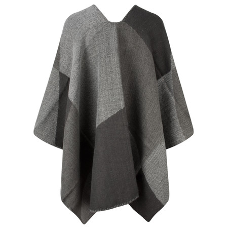 Sandwich Clothing Check Weave Poncho - Grey