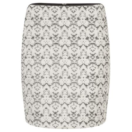 Sandwich Clothing Heavy Wool Jacquard Skirt - Grey