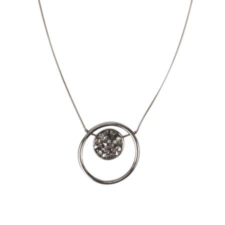 Dansk Smykkekunst Regina Long Necklace - Hematite