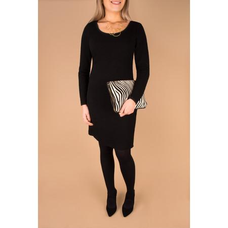Sandwich Clothing Textured Jacquard Dress - Black