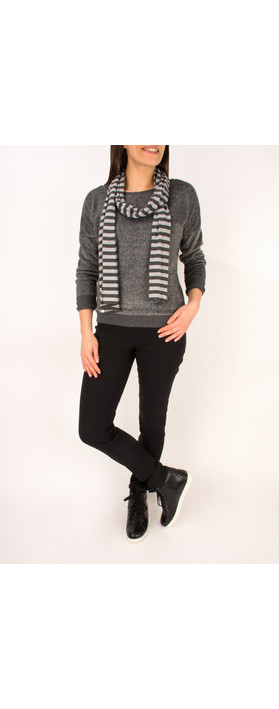 Sandwich Clothing Distressed Twill Jersey Pullover Washed Steel