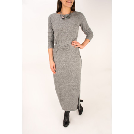 Sandwich Clothing Twist Detail Slub Jersey Midi Dress - Grey
