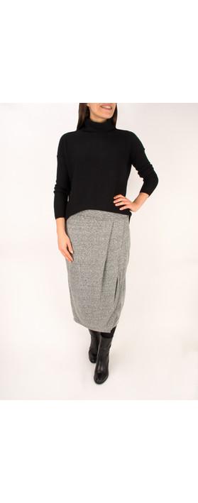 Sandwich Clothing Draped Slub Jersey Skirt Washed Steel