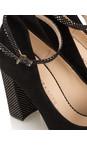Peter Kaiser Black  Atina Ankle Strap Shoe
