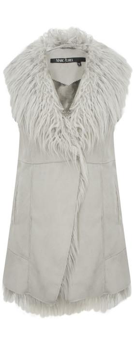 Marc Aurel Luxe Day Mongolian Wool Waistcoat Light Grey