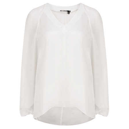 Marc Aurel Luxe Day Drape Blouse - Off-white