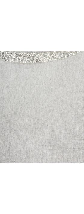 Marc Aurel Luxe Night Sparkle Jumper Light Grey Mel