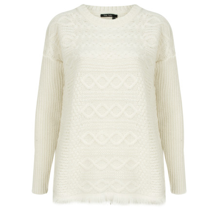 Marc Aurel Luxe Patterned Knit Jumper - Off-white