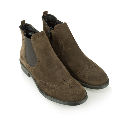 Tamaris  Brogue Chelsea Boot - Brown