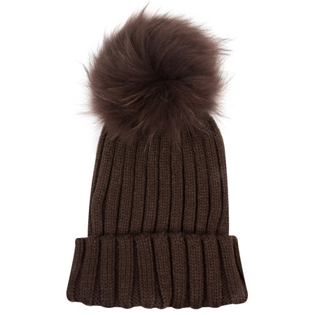 Bitz of Glitz Anna Beanie Bobble - Brown