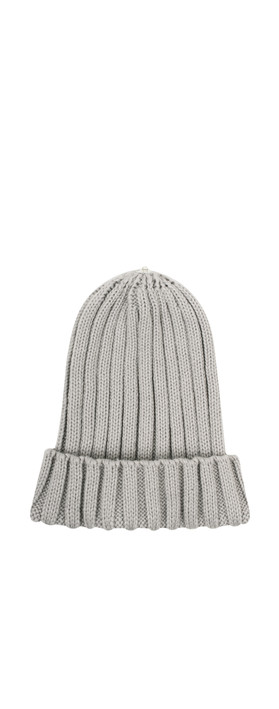 Bitz of Glitz Anna Ribbed Beanie Hat Light Grey