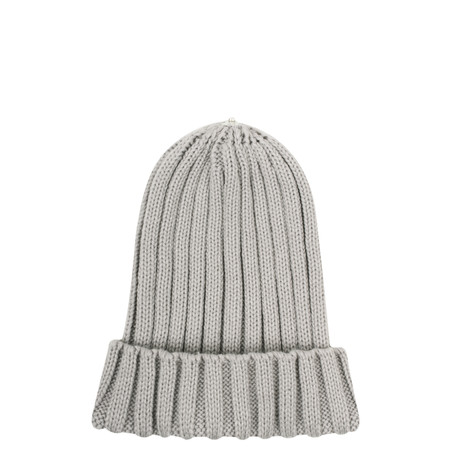 Bitz of Glitz Anna Ribbed Beanie Hat - Grey