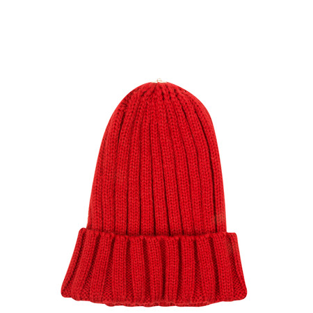 Bitz of Glitz Anna Ribbed Beanie Hat - Red