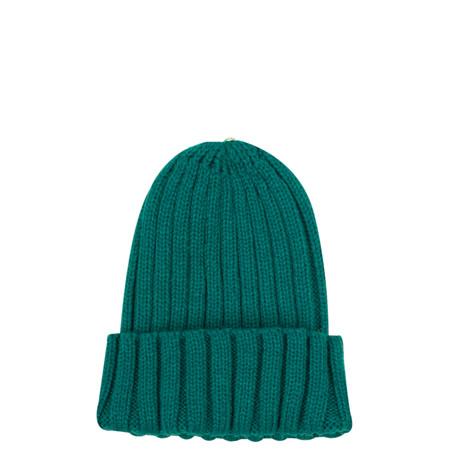 Bitz of Glitz Anna Ribbed Beanie Hat - Green