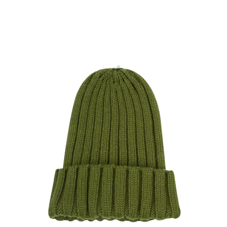 Bitz of Glitz Anna Ribbed Beanie Hat - Green