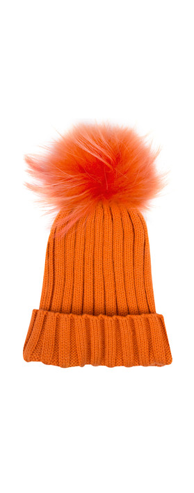 Bitz of Glitz Anna Ribbed Beanie Hat Orange