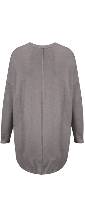 TOC  Jodey V Neck Sloppy Joe Jumper Grey