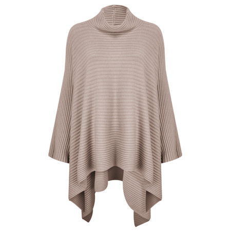 TOC  Janey Oversized Poncho Jumper - Brown
