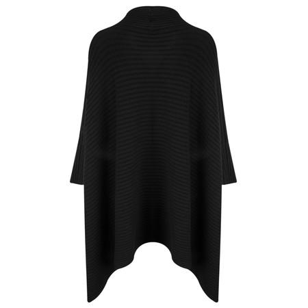 TOC  Janey Oversized Poncho Jumper - Black