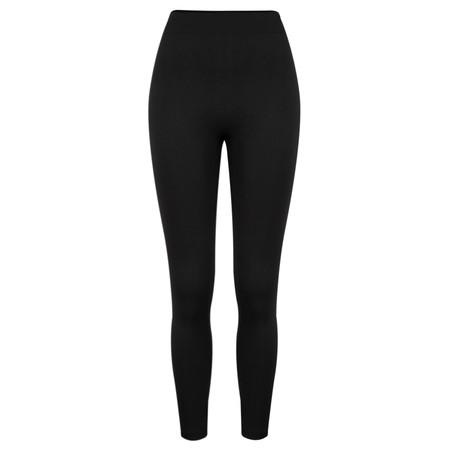TOC  Leeza Fleece Lined Footless Tights  - Black