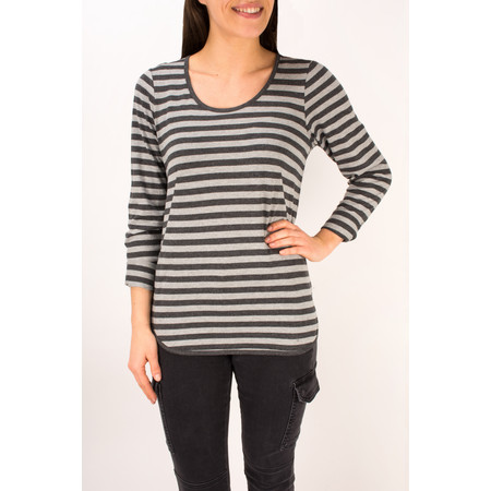 Sandwich Clothing Striped Jersey Top - Grey