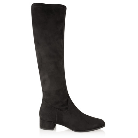 Tamaris  Faux Suede Stretch Over Knee Boot - Black
