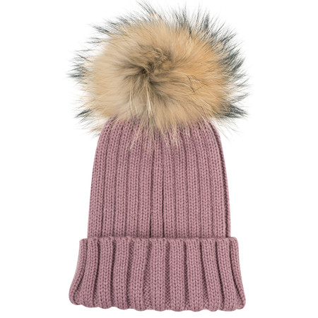 Bitz of Glitz Anna Ribbed Beanie Hat - Purple