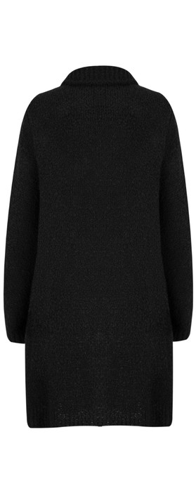 TOC  Carrie Boucle Knit Waterfall Cardi Black