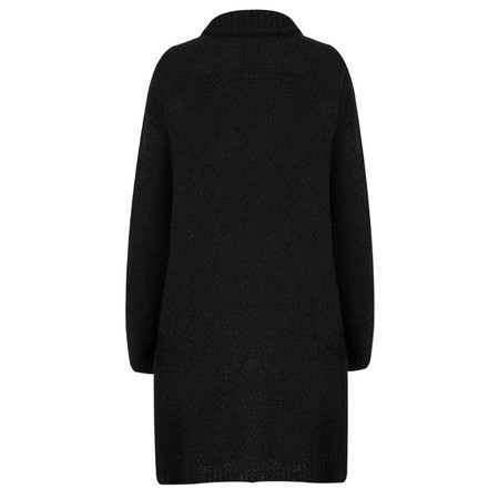 TOC  Carrie Boucle Knit Waterfall Cardi - Black