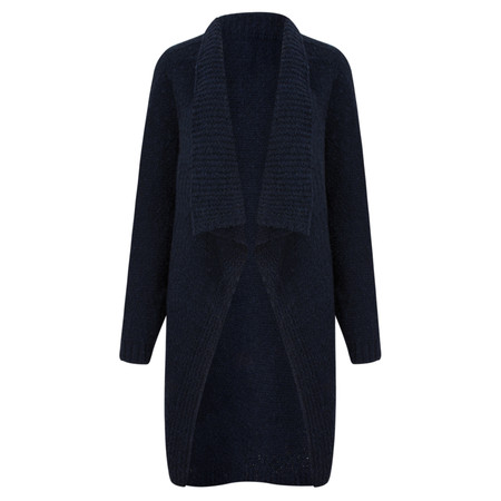 TOC  Carrie Boucle Knit Waterfall Cardi - Blue