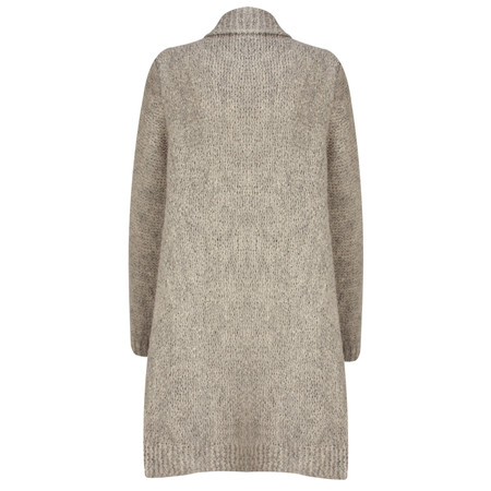 TOC  Carrie Boucle Knit Waterfall Cardi - Brown