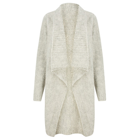 TOC  Carrie Boucle Knit Waterfall Cardi - Metallic