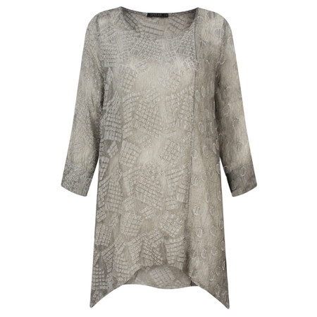 Grizas Oliato Devore A-Shaped Tunic - Beige