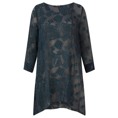 Grizas Silk Devore A-Shape Tunic - Blue