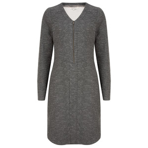 Sandwich Clothing Jacquard Zip Front Jersey Dress