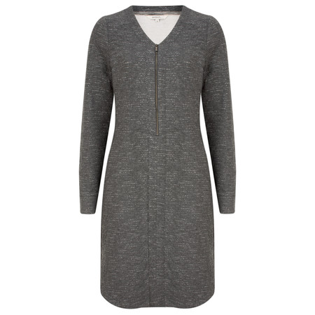 Sandwich Clothing Jacquard Zip Front Jersey Dress - Grey