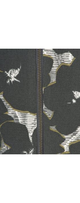 Sandwich Clothing Floral Bomber Jacket Grey Magnet