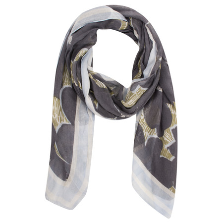 Sandwich Clothing Floral Print Woven Scarf - Grey