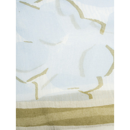 Sandwich Clothing Floral Print Woven Scarf - Blue