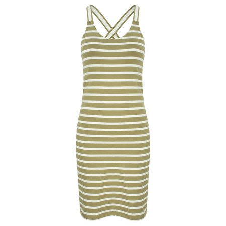 Sandwich Clothing Long Striped Cotton Vest Top - Green