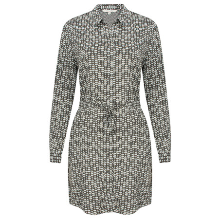 Sandwich Clothing Lotus Patterned Woven Shirt Dress - Grey