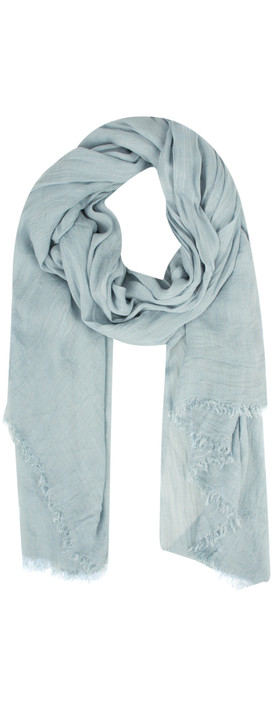 Sandwich Clothing Crinkle Effect Woven Scarf Pale Blue