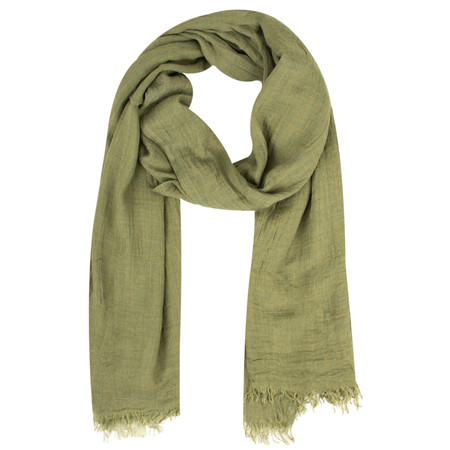 Sandwich Clothing Crinkle Effect Woven Scarf - Green